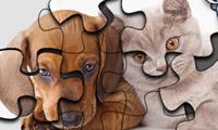 Katzen- und Hundepuzzle